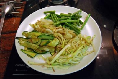 Verduras salteadas y reservadas