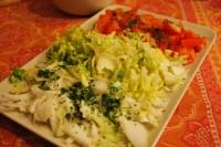 cebolla, lechuga y tomate