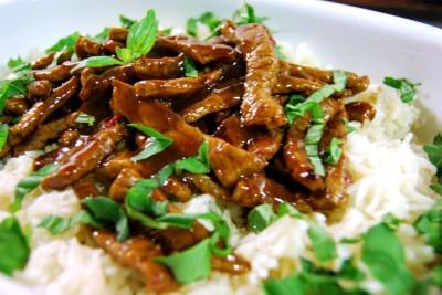 Carne Thai: Sugerencia de presentación.
